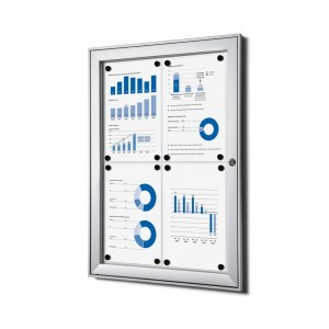 SCS 4xA4 Magnetic Display Cabinet 44x61 cm Closed with a Key for Indoor Use, Indoor and Outdoor Display Cabinet, Advertising Display Case, Information Display Case, Notice Board, Information Board