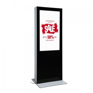"Two-Sided Digital Advertising Totem With Monitors 55 "" Digital Stand Advertising Stand"