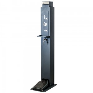 Hand Sanitizer Station - Foot-Operated Sanitizer Dispenser with Space for a 1L Tank  With a Stand and an Anti-Drip Tray
