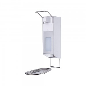 Manual Elbow Sanitiser for  0.5L Disinfecting Liquid or Liquid Soap With a Stand And an Anti-Drip Tray