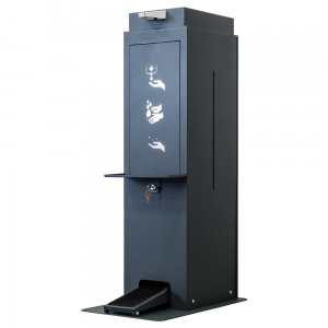 Hand Sanitizer Station - Foot-Operated Sanitizer Dispenser with Space for a 25L Tank  With a Stand and an Anti-Drip Tray