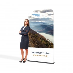 Monolith Fabric Stand 1,2 x 2,3 m With a Double-Sided Printout