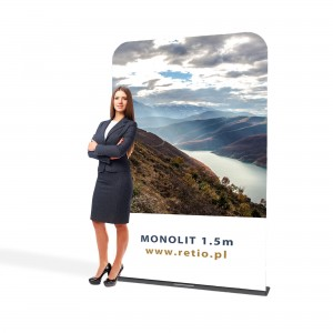 Monolith Fabric Stand 1,5 x 2,3 m With a Double-Sided Printout