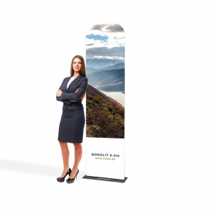 Monolith Fabric Stand 0,6 x 2,3 m With a Double-Sided Printout