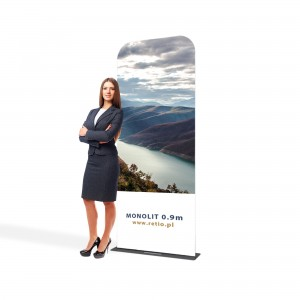 Monolith Fabric Stand 0,9 x 2,3 m With a Double-Sided Printout