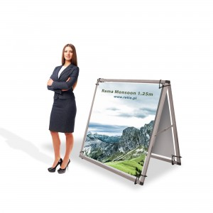 Monsoon 1250 mm Banner Frame with Double-Sided Printing