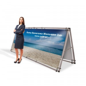 Monsoon 3000 mm Banner Frame with Double-Sided Printing