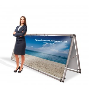 Monsoon 2500 mm Banner Frame with Double-Sided Printing