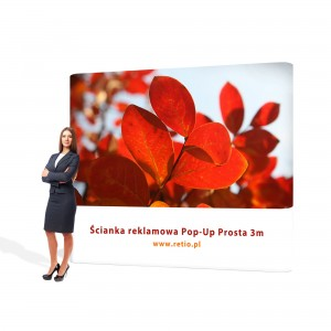 Straight Pop-Up Advertising Wall - Premium 3 x 2,2 m With Single-Sided Printout
