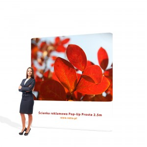 Straight Pop-Up Advertising Wall - Premium 2,5 x 2,2 m With Single-Sided Printout