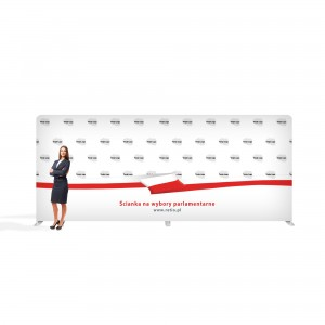 Advertising Wall for Elections  6 x 2.4 m Straight Fabric Backwall with a Printout