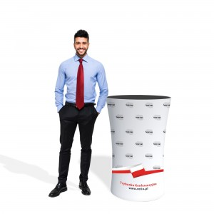 Conference Stand for Elections, Oval with Graphics