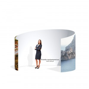Fabric Meeting Pod Stand With a Single-Sided Print