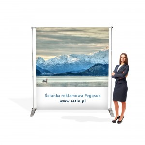 Pegasus Advertising Wall 1500-2410mm With Single-Sided Printout