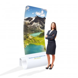 Snake Fabric Stand 0,9 x 2,2 m With a Single-Sided Printout