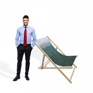 Advertising Deck Chair with Print, without Armrests