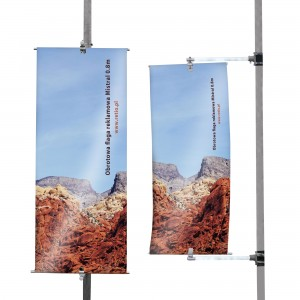 Mistral Rotating Advertising Flag  - Single-Sided Print, Polyester
