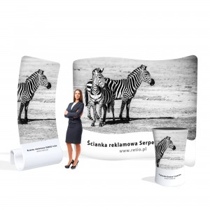 Zebra Advertising Set - Wall + Counter + Stand