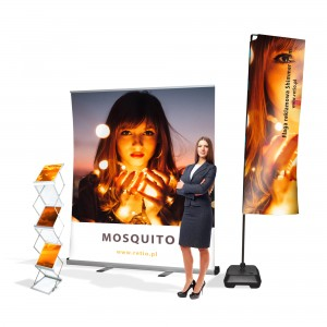 Brightlight Advertising Set - Rollup + Flag + Stand