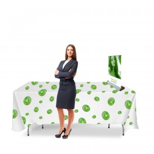 Kiwi Promotional Set - Event table + Tablecloth + Mini Rollup