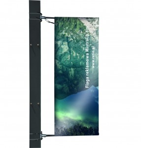 Mistral Advertising Flag- Single-Sided Print, Polyester