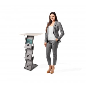 A4 Portable Leaflet Stand Laptop Desk Folding Exhibition Stand