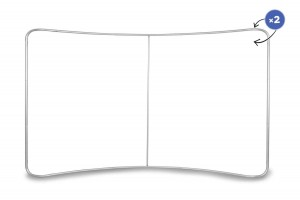 Curved Fabric Banner Stand  Standard Frame 400 x 230 cm