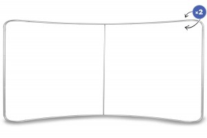 Curved Fabric Banner Stand  Standard Frame 500 x 230 cm