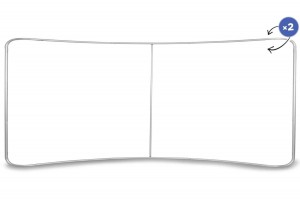 Curved Fabric Banner Stand  Standard Frame 600 x 230 cm