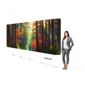 Straight Pop-Up Advertising Wall - Basic 4,1 x 2,3 m With Single-Sided Printout