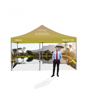 Advertising Tent 3x6m with Individual Print