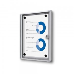 XS 1xA4 Magnetic Display Cabinet 22X31 cm Closed with a Key for Internal Use,  Internal Display, Advertising Display, Information Display, Notice Board