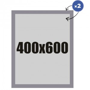 Magnetic Frame  400x600 mm Two-Sided Silver