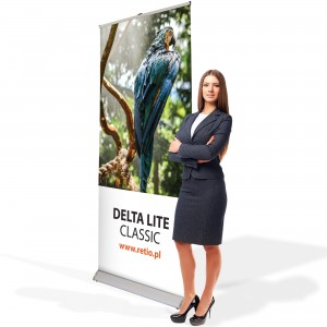 Delta Lite Classic Roll-up 80 x 200 cm Rolled Advertising Stand With a Printout