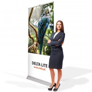 Delta Lite Roll-up 85 x 200 cm Rolled Advertising Stand With a Printout