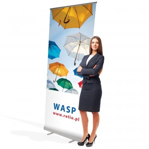 Wasp Roll-up 60 x 200 cm Rolled Advertising Stand With a Printout