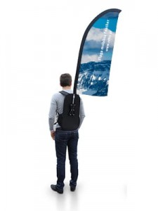 Backpack Street Flag - FEATHER