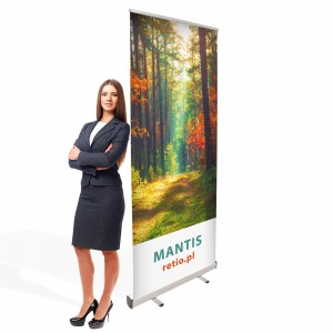 Mantis Roll-up 120 x 200 cm rolled Advertising Stand With a Printout