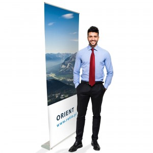 Orient Roll-up 120 x 200 cm Rolled Advertising Stand With a Printout