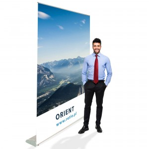 Orient Roll-up 150 x 200 cm Rolled Advertising Stand With a Printout