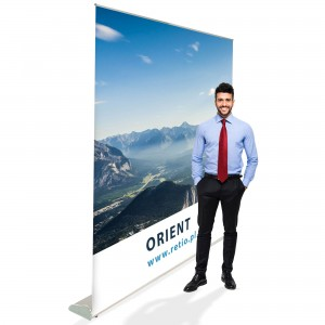 Orient Roll-up 200 x 200 cm Rolled Advertising Stand With a Printout