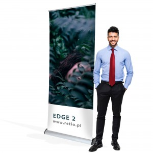 Edge Double-Sided Roll-up 100 x 200 cm Rolled Advertising Stand With a Print on Both Sides