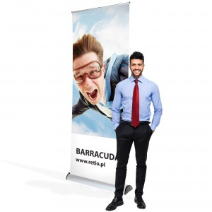 Barracuda Roll-up 100 x 200 cm Rolled Advertising Stand With a Printout
