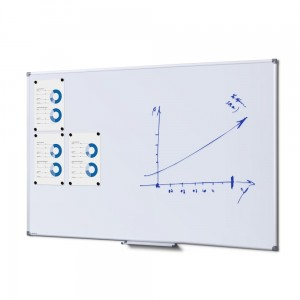 SCRITTO® Economy Magnetic Dry-Wipe Board 150 x 100 cm  White Magnetic Dry-Wipe Board for School or Office for Writing with a Marker Pen or a Felt-tip Pen
