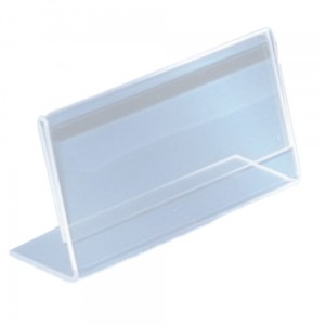 "PLEXI Business Card Stand, Standing Business Card Holder, Presenter for Business Cards, Type ""L"" - can also be used as a Price Stand"