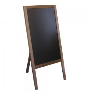WUDEN Chalkboard Advertising Board, Dry Wipe, Wooden with a Board for Writing with a Marker, 65 x 118 cm