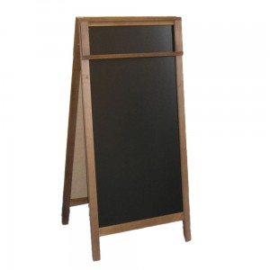 WUDEN Chalkboard Advertising Board, Dry Wipe, Wooden with a Board for Writing with a Marker, 61 x 118 cm with an Extension