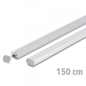 TWIN 150 cm - Advertising Banner Strips with Express Clamp