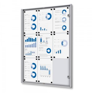 XS 9xA4 Magnetic Display Cabinet 66x92 cm Closed with a Key for Internal Use,  Internal Display, Advertising Display, Information Display, Notice Board