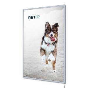 PLED Economy LED Illuminated Frame A0 (84,1 x 118,9 cm) Frame for Poster Photos Picture Snap Lighted Poster Frame High Quality